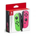 switch Joy-Con green and pink