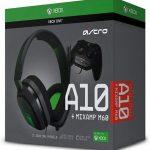 astro headset green black